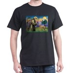 St Francis / Std Poodle(a) Dark T-Shirt