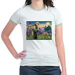 St Francis / Std Poodle(a) Jr. Ringer T-Shirt