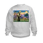 St Francis / Std Poodle(a) Kids Sweatshirt