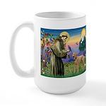 St Francis / Std Poodle(a) Large Mug
