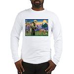 St Francis / Std Poodle(a) Long Sleeve T-Shirt