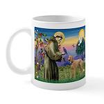 St Francis / Std Poodle(a) Mug