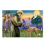 St Francis / Std Poodle(a) Postcards (Package of 8