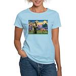 St Francis / Std Poodle(a) Women's Light T-Shirt