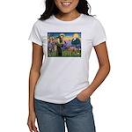 St Francis / Std Poodle(a) Women's T-Shirt
