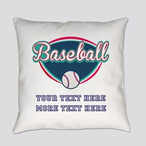Custom Baseball Fan Everyday Pillow