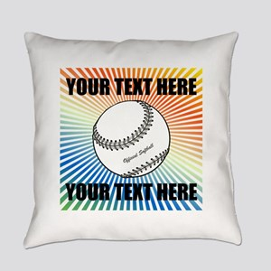 Personalized Softball Everyday Pillow