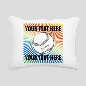 Personalized Softball Rectangular Canvas Pillow