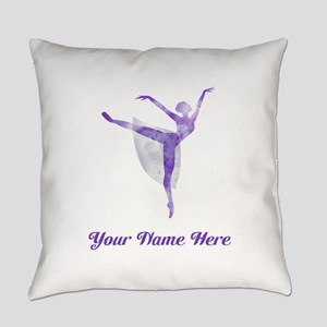 Personalized Ballerina Everyday Pillow