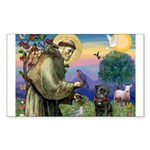 St Francis / Pug Rectangle Sticker