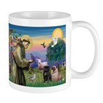 Saint Francis & Two Pugs Mug