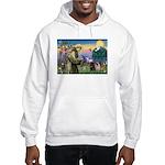 Saint Francis & Two Pugs Hooded Sweatshirt