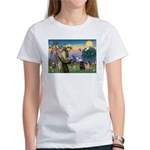 Saint Francis & Two Pugs Women's T-Shirt