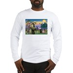 Saint Francis & Two Pugs Long Sleeve T-Shirt