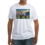 Saint Francis & Two Pugs Fitted T-Shirt