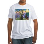 St Francis / Rottweiler Fitted T-Shirt