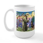 St Francis / Rottweiler Large Mug