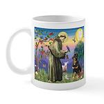 St Francis / Rottweiler Mug