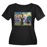 St Francis / Rottweiler Women's Plus Size Scoop Ne