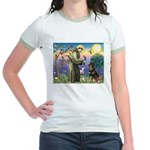 St Francis / Rottweiler Jr. Ringer T-Shirt