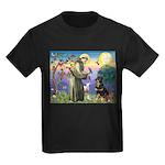 St Francis / Rottweiler Kids Dark T-Shirt