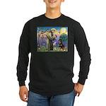 St Francis / Rottweiler Long Sleeve Dark T-Shirt