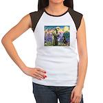 St Francis / Rottweiler Women's Cap Sleeve T-Shirt