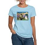St Francis & Samoyed Women's Light T-Shirt