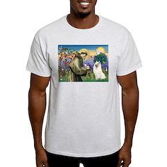 St Francis & Samoyed T-Shirt