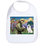 St Francis & Samoyed Bib