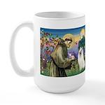 St Francis & Samoyed Large Mug