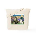 St Francis & Samoyed Tote Bag