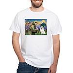St Francis & Samoyed White T-Shirt