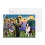 St. Francis/ St. Bernard Greeting Cards (Pk of 20)
