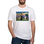 St. Francis/ St. Bernard Fitted T-Shirt