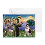 St. Francis/ St. Bernard Greeting Cards (Pk of 10)
