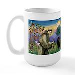 St Francis / Schipperke Large Mug