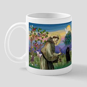 St Francis / Schipperke Mug