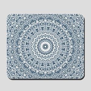 Dusky Blue Mandala Pattern Mousepad