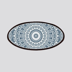 Dusky Blue Mandala Pattern Patch