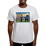 St. Francis & Giant Schnauzer Light T-Shirt
