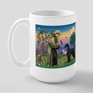 St. Francis & Giant Schnauzer Large Mug