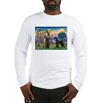 St. Francis & Giant Schnauzer Long Sleeve T-Shirt