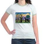 St. Francis & Giant Schnauzer Jr. Ringer T-Shirt