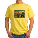 St. Francis & Giant Schnauzer Yellow T-Shirt