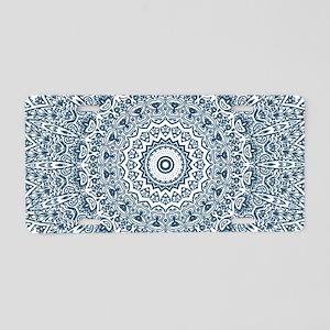 Dusky Blue Mandala Pattern Aluminum License Plate