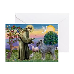 St Francis PS Giant Schnauzer Greeting Card