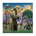 St Francis PS Giant Schnauzer Tile Coaster