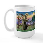 St Francis PS Giant Schnauzer Large Mug
