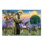 St Francis PS Giant Schnauzer Postcards (Package o